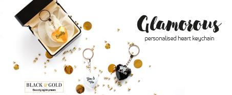 B&G heart keychain