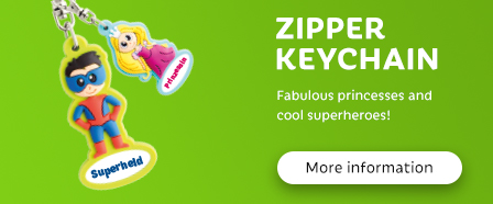 Zipper keychain