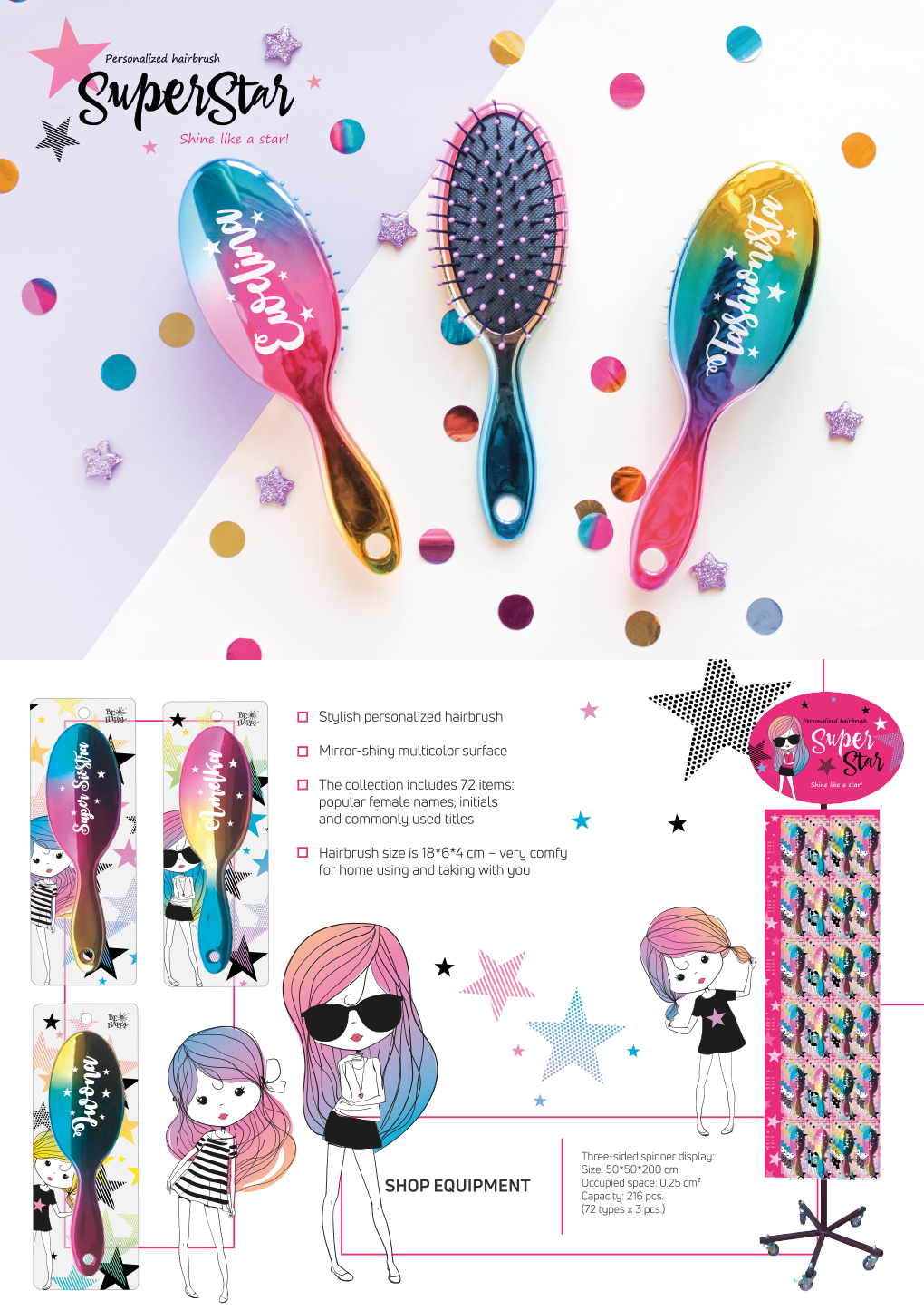 Personalized hairbrush